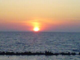 名物の夕陽