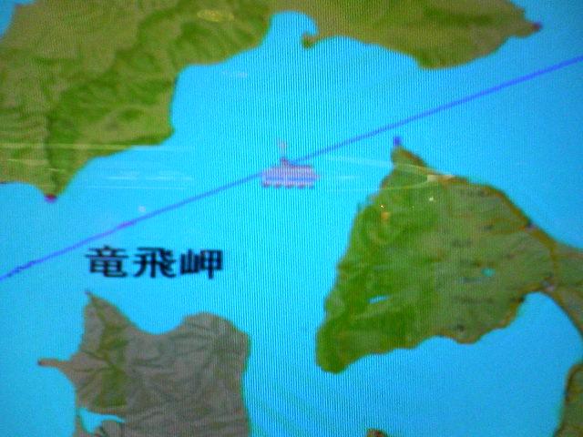 津軽海峡のど真ん中